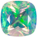 Grade GEM CHATHAM CREATED FACETED WHITE OPAL Antique Square Cut Gems  - Calibrated