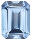 Imitation Aquamarine Emerald Cut Gems