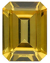 Imitation Citrine Emerald Cut Gems