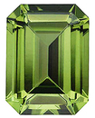 Imitation Peridot Emerald Cut Gems