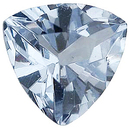 Imitation Aquamarine Trillion Cut Gems