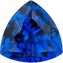 Grade GEM CHATHAM CREATED BLUE SAPPHIRE Trillion Cut Gems