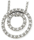 14 KT White Gold 1/4 Carat Total Weight Diamond 18