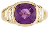 14KT Yellow Gold Amethyst Ring