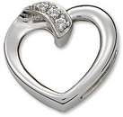 Platinum .03 Carat Total Weight Diamond Heart Pendant