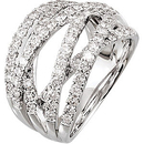 Stylish 1.50 carat total weight 1.60 mm Round Shaped Diamond Ring skillfully set in 14 karat White Gold