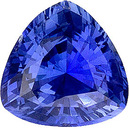 Vibrant Rich Med Blue Ceylon Sapphire - Great Life & Clarity, 6.8 mm, Trillion Cut, 1.29 carats
