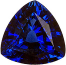 GEM Blue Kancha Sapphire Gemstone in 8.1 mm Large Trillion Cut, 1.93 carats