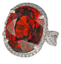 Beautiful 23 carat + Spessartite Garnet & Diamond Custom Gemstone Ring  - SOLD