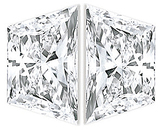 PAIR OF TRAPEZOID DIAMONDS Brilliant Cut G-H Color  VS Clarity 4.30 x 2.70 mm to 6.20 x 3.50 mm Sizes