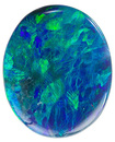 Lively Lighting Ridge Australian Natural Black Opal Gemstone, Oval Cut, 3.44 carats