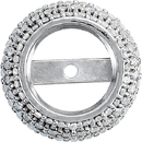 Beautiful Pre-Set Halo Accented Trim Setting for Round Shape Gemstone Sized 4.25 mm - 4.75 mm - Customize Metal Type