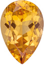 Super Nice Imperial Topaz Loose Gem in Pear Cut, Peach Tinged Gold, 12.1 x 8.0 mm, 3.56 carats