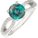 Classic Round 0.65 carat 5.00 mm GEM Grade Brazilian Alexandrite set in Unqiue Style Diamond Ring on SALE