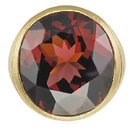 Perfect Gem Spessartite Garnet Beautifully Bezel Set in Custom Designer Ring - SOLD