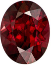 Desirable Rhodolite Loose Gem in Oval Cut, Vibrant Rich Red, 9.9 x 7.8 mm, 3.16 carats