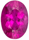 Lovely, Rich Pink Tourmaline Braziliant Gemstone, Oval Cut, 2.1 carats