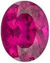 Fabulous Rare Size! Quality Reddish Pink Tourmaline Genuine Gemstone from Brazil, Oval Cut, 12.26 carats