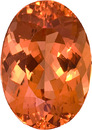Stunning Color in Precious Oval Cut Topaz, Incredible Apricot Orange, 12.9 x 9.5 mm, 5.96 carats