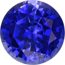Fiery Loose Blue Sapphire Natural Ceylon Gemstone in Round Cut, 5.9 mm, 0.96 Carats