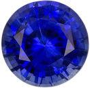 Bright & Lively Sapphire Loose Gemstone in Round Cut, Medium Rich Blue, 4.8 mm, 0.54 carats
