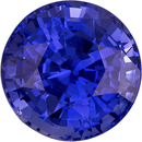 Violet Tinged Rich Blue Sapphire Loose Ceylon Gem in Round Cut, 7.7 mm, 2.58 Carats