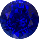 Vivid Color in Blue Sapphire Genuine Faceted Ceylon Gem in Round Cut, 6.6 mm, 1.48 Carats