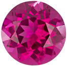 Intense Fuchsia Pink Round No Heat Tourmaline Gem, 7.0 mm, 1.25 carats