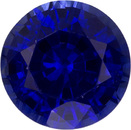 Bright & Lively Sapphire Loose Gem in Round Cut, Vivid Rich Blue, 5.6 mm, 0.91 Carats