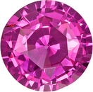 No Heat Vivid Intense Pink Sapphire Gem in Round Cut, GIA Certed in 7.61 x 4.44 mm, 1.93 carats