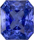 3.46 carats Rich Blue Sapphire Loose Gem in Stunning Radiant Cut, 8.4 x 7.1 mm
