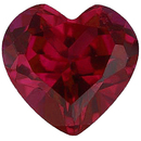 Imitation Ruby Heart Cut Gems