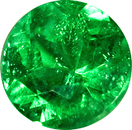 Rich Vivid Green Paraiba Tourmaline Gemstone from Brazil, 7mm, 1.39 carats
