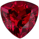 Imitation Ruby Trillion Cut Gems
