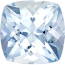 Lively & Bright Faceted Aquamarine in Cushion Cut, Medium Blue Color in 6.1 mm, 1.08 carats
