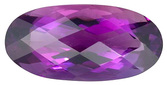 Enticing Deep Bright Purple Natural Amethyst Gemstone, Oval Rose Cut, 12.04 carats