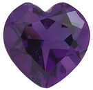 Heart Shape Genuine Amethyst Loose High Quality Gemstone  Grade AAA 6.69 carats,  13.00 mm in Size