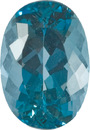 Incredible Color Aquamarine Gemstone from Mozambique, Unheated, None Finer in 11.0 x 8.5 mm, 3.32 carats
