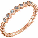 14KT Rose Gold Aquamarine Stackable Ring