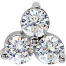 14KT White Gold Forever Classic Moissanite Three-Stone 18