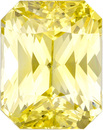 Yellow No Treatment Sapphire Loose Gem in Radiant Cut, Rich Yellow Color in 7.81 x 6.19 mm, 2.24 carats - With GIA Certificate
