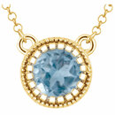 14KT Yellow Gold Swiss Blue Topaz