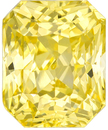 Stunning GIA Untreated Yellow Sapphire Gem in Radiant Cut, Vivid Pure Yellow Color in 8.0 x 6.5 mm, 3.10 carats - GIA Certified