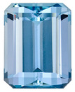 A True Classic! Beautiful Dark Blue Aquamarine Natural Gem, Emerald Cut, 3.59 Carats