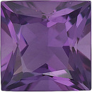 Loose Calibrated Natural Size Amethyst Gemstone in Princess Shape, Grade AA, 2.00 mm in Size, 0.05 carats