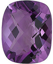 Beautiful Genuine Loose Amethyst Gemstone in Antique Cushion Checkerboard Shape, Grade AA, 8.00 x 6.00 mm in Size, 1.26 carats
