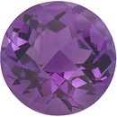 Checkerboard Round Shape Genuine Amethyst Loose  Gemstone   Grade AA 1.2 carats,  7.00 mm in Size