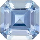Excellent Cut Aquamarine Loose Gem, Asscher Cut, Rich Blue, 8.9 mm, 3 carats