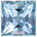 Fabulous Gem!  Attractive Aquamarine Natural Gem Stone, Princess  Cut, 2.56 Carats