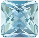 Fantastic, Unique Shape! Unheated Brazilian Aquamarine Gemstone, Radiant Cut, 12.29 Carats